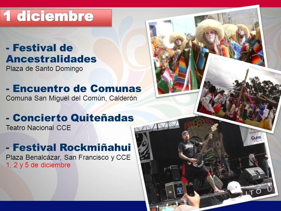 1 diciembre - Festival de Ancestralidades - Encuentro de Comunas