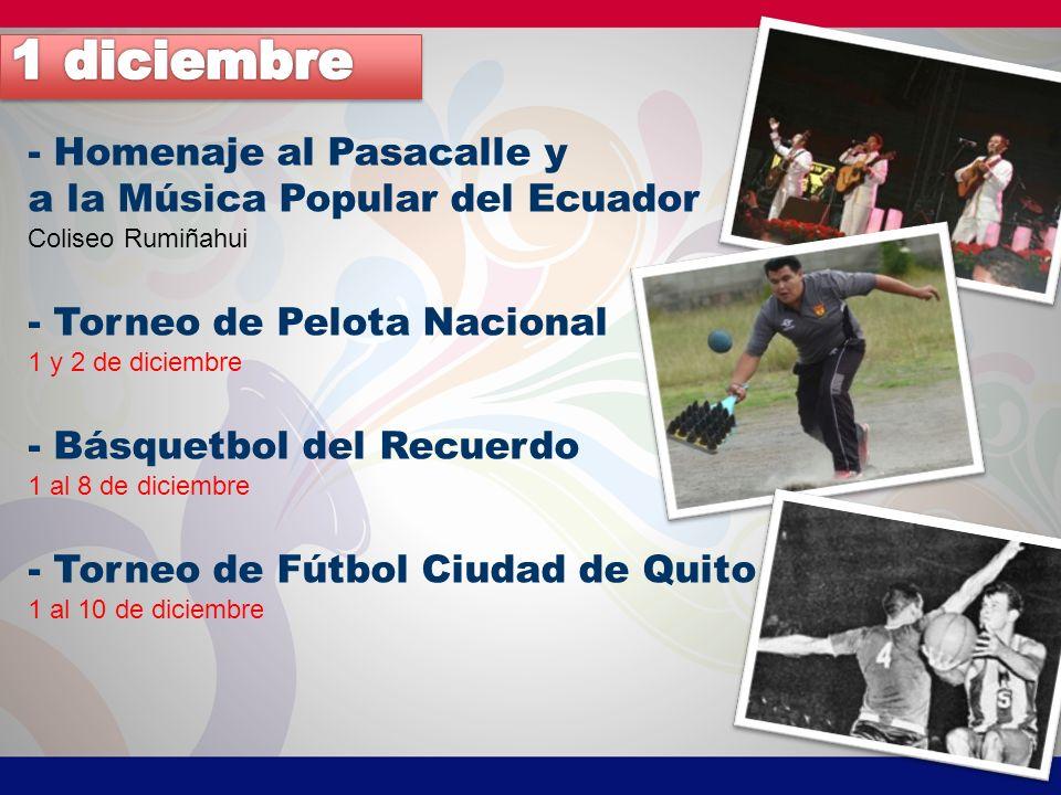 1 diciembre - Homenaje al Pasacalle y a la Música Popular del Ecuador