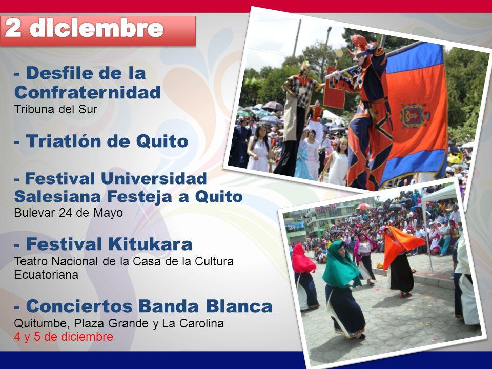 2 diciembre - Desfile de la Confraternidad - Triatlón de Quito