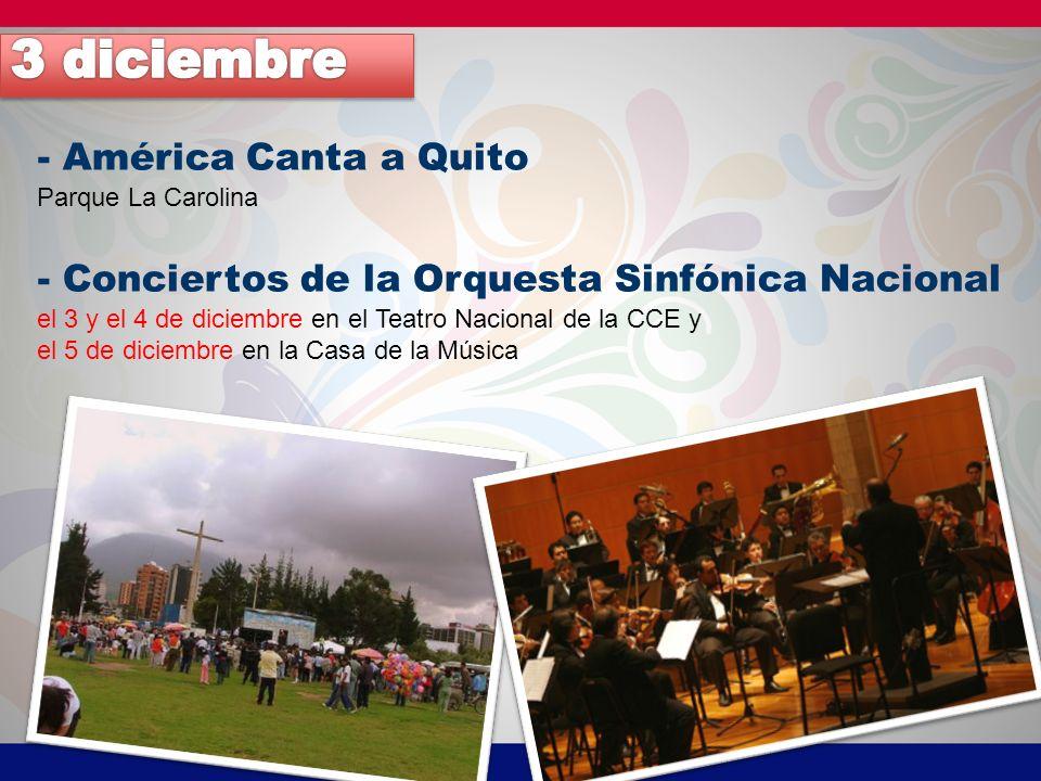 3 diciembre - América Canta a Quito