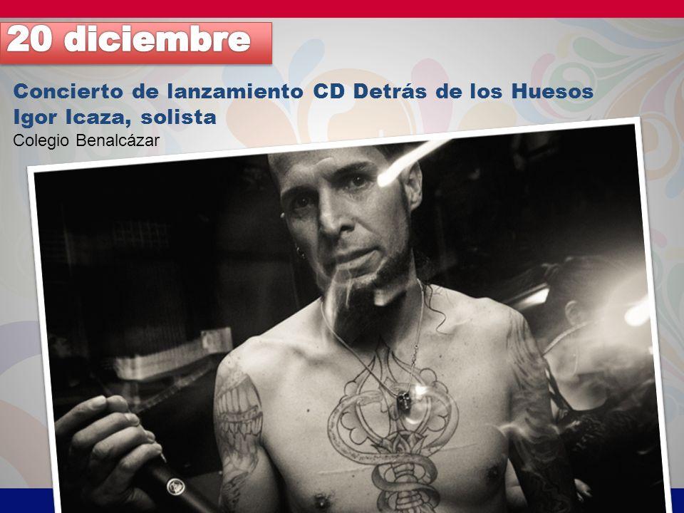 20 diciembre Concierto de lanzamiento CD Detrás de los Huesos