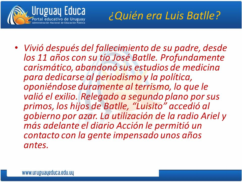¿Quién era Luis Batlle