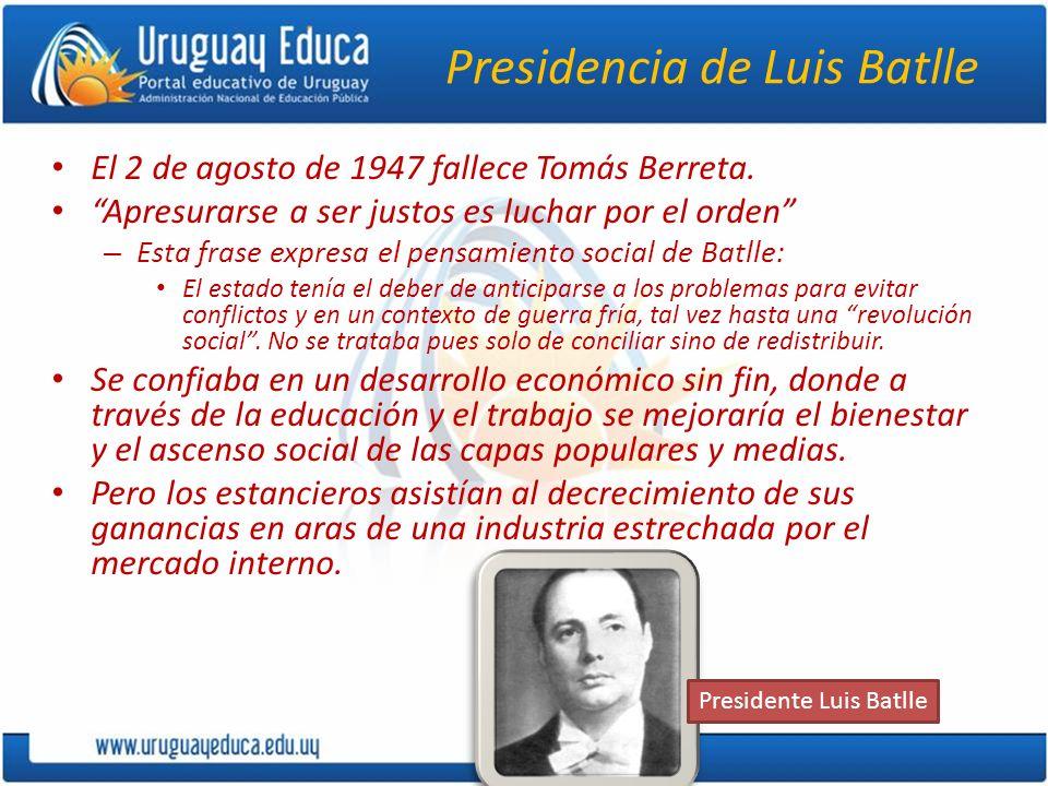 Presidencia de Luis Batlle