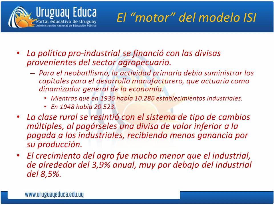 El motor del modelo ISI