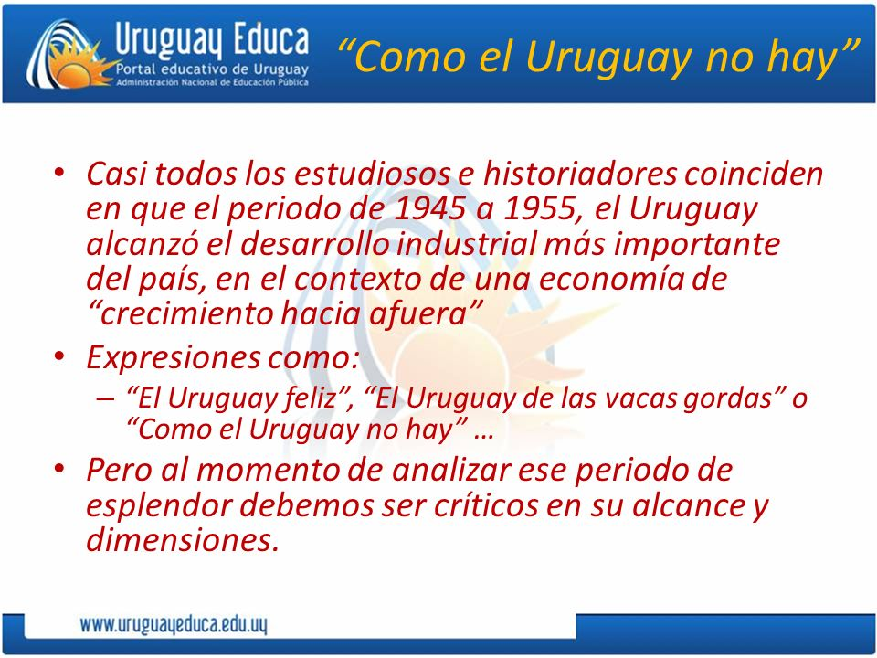 Como el Uruguay no hay