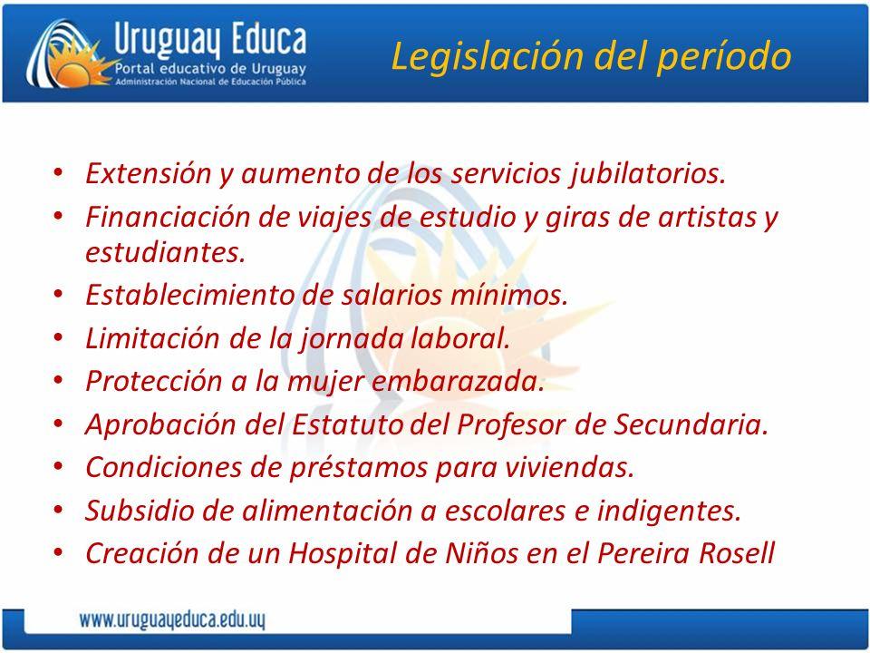 Legislación del período