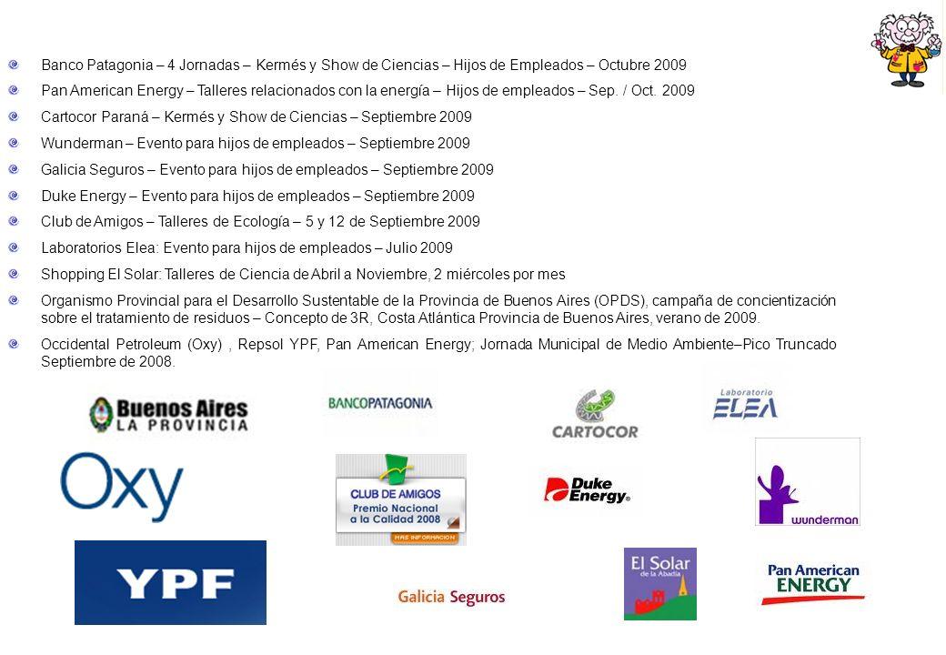 Banco Patagonia – 4 Jornadas – Kermés y Show de Ciencias – Hijos de Empleados – Octubre 2009