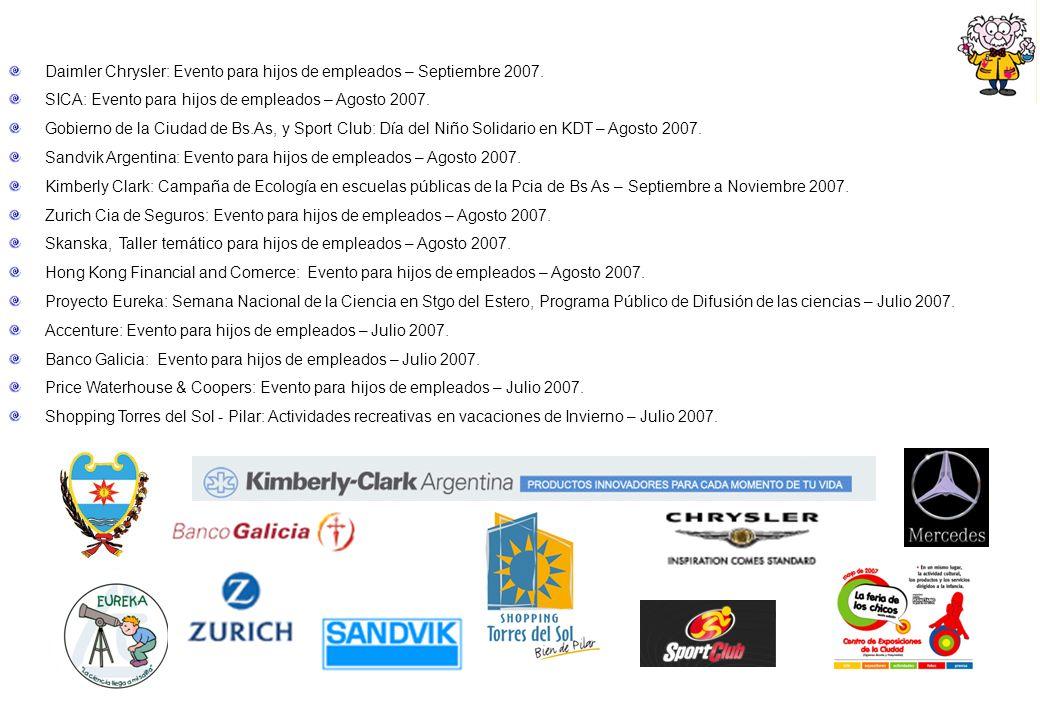Daimler Chrysler: Evento para hijos de empleados – Septiembre 2007.