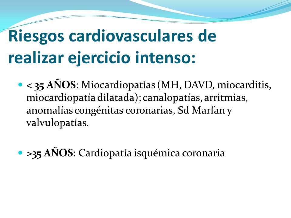 Riesgos cardiovasculares de realizar ejercicio intenso: