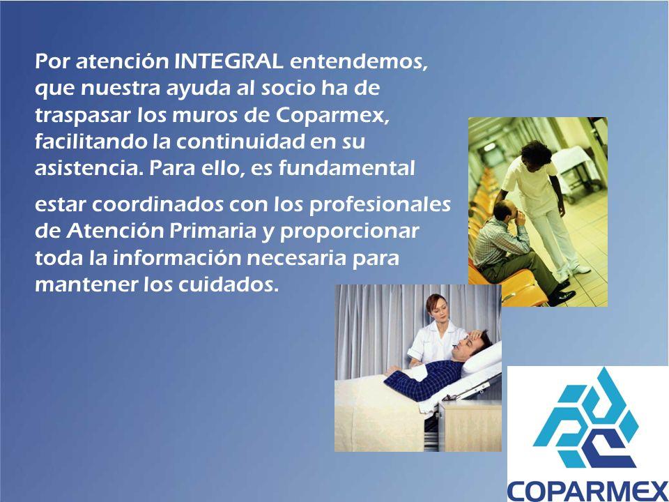 Por atención INTEGRAL entendemos, que nuestra ayuda al socio ha de traspasar los muros de Coparmex, facilitando la continuidad en su asistencia. Para ello, es fundamental