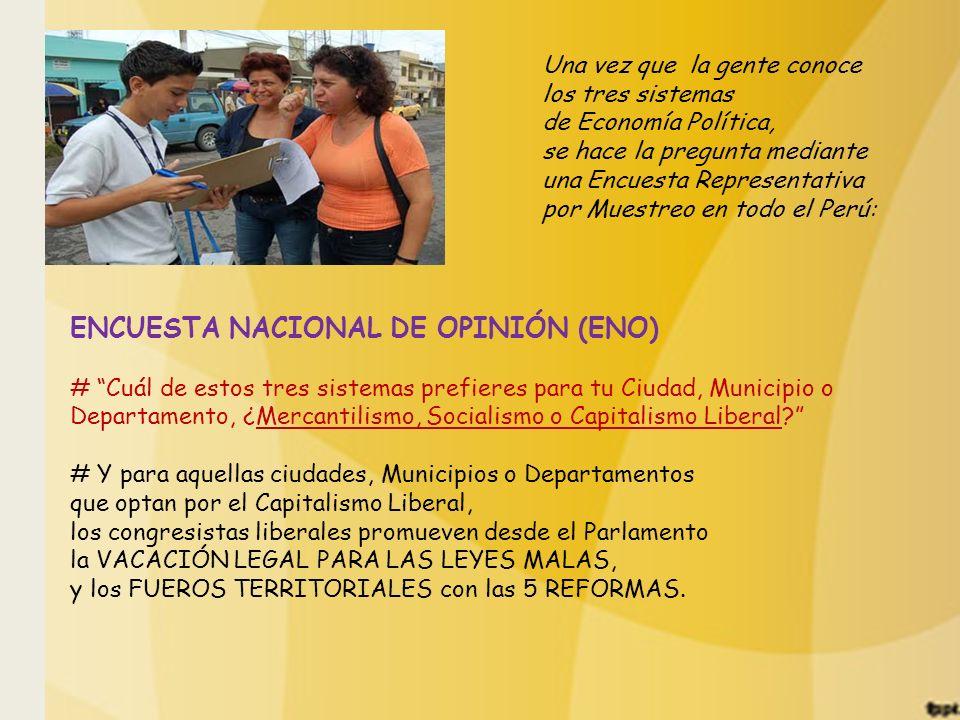 ENCUESTA NACIONAL DE OPINIÓN (ENO)