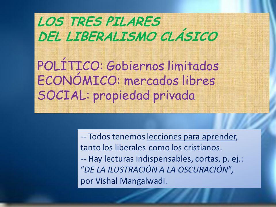 DEL LIBERALISMO CLÁSICO POLÍTICO: Gobiernos limitados