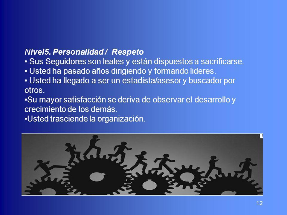 Nivel5. Personalidad / Respeto