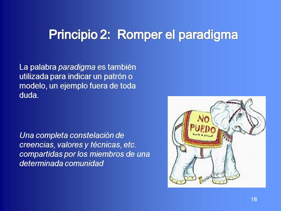 Principio 2: Romper el paradigma