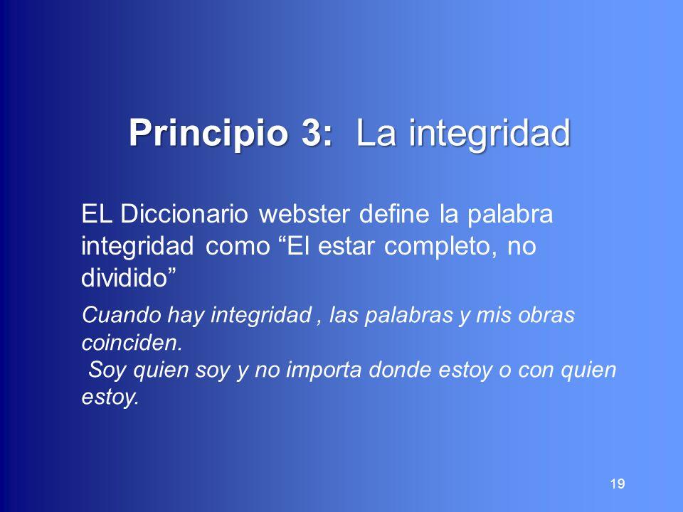 Principio 3: La integridad