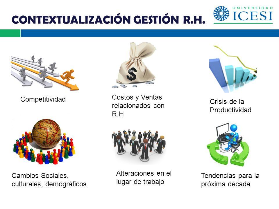 CONTEXTUALIZACIÓN GESTIÓN R.H.
