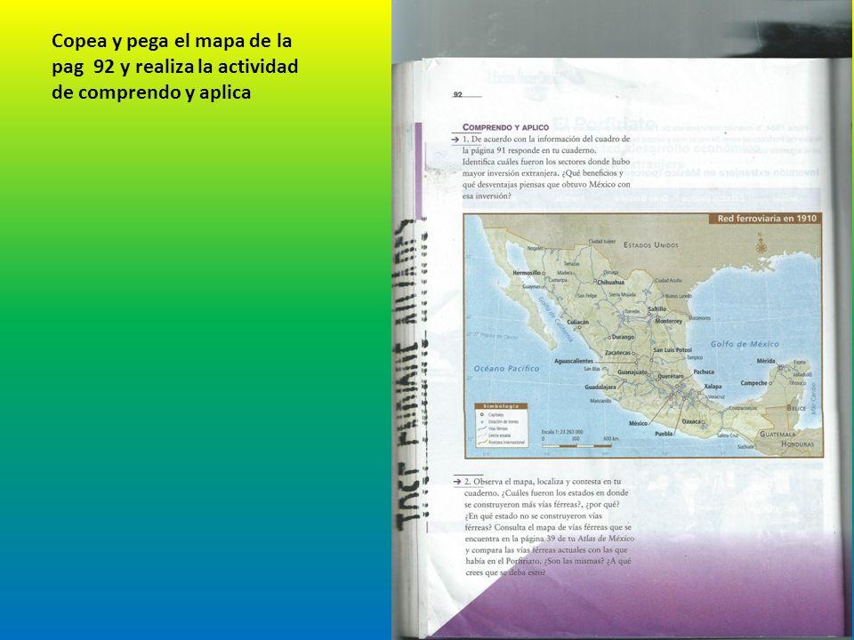 Copea y pega el mapa de la pag 92 y realiza la actividad de comprendo y aplica