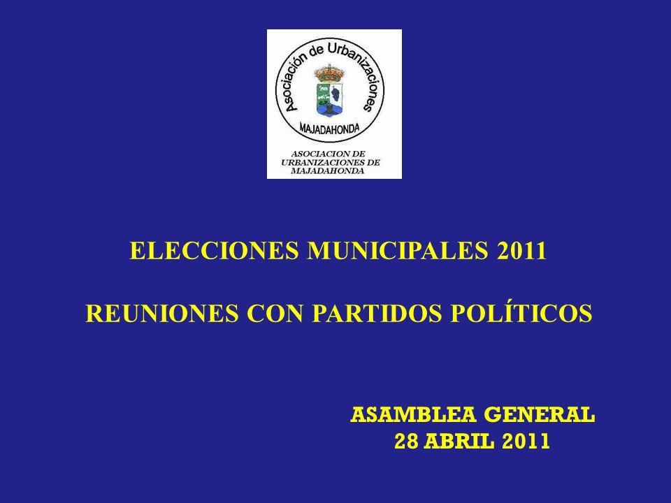 ELECCIONES MUNICIPALES 2011 REUNIONES CON PARTIDOS POLÍTICOS