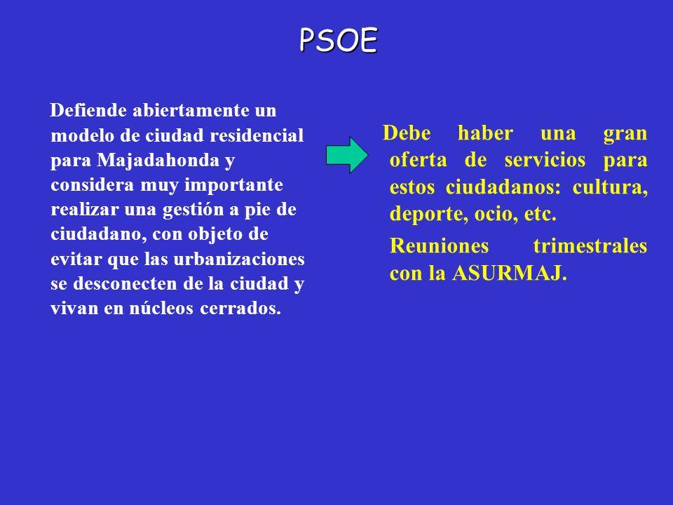 PSOE Reuniones trimestrales con la ASURMAJ.
