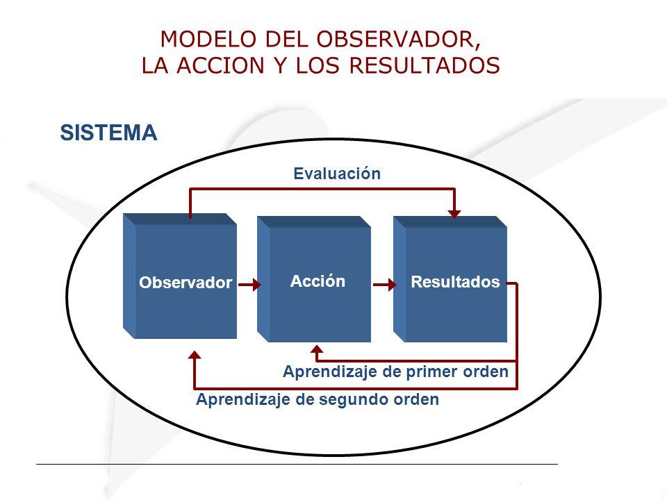MODELO DEL OBSERVADOR, LA ACCION Y LOS RESULTADOS