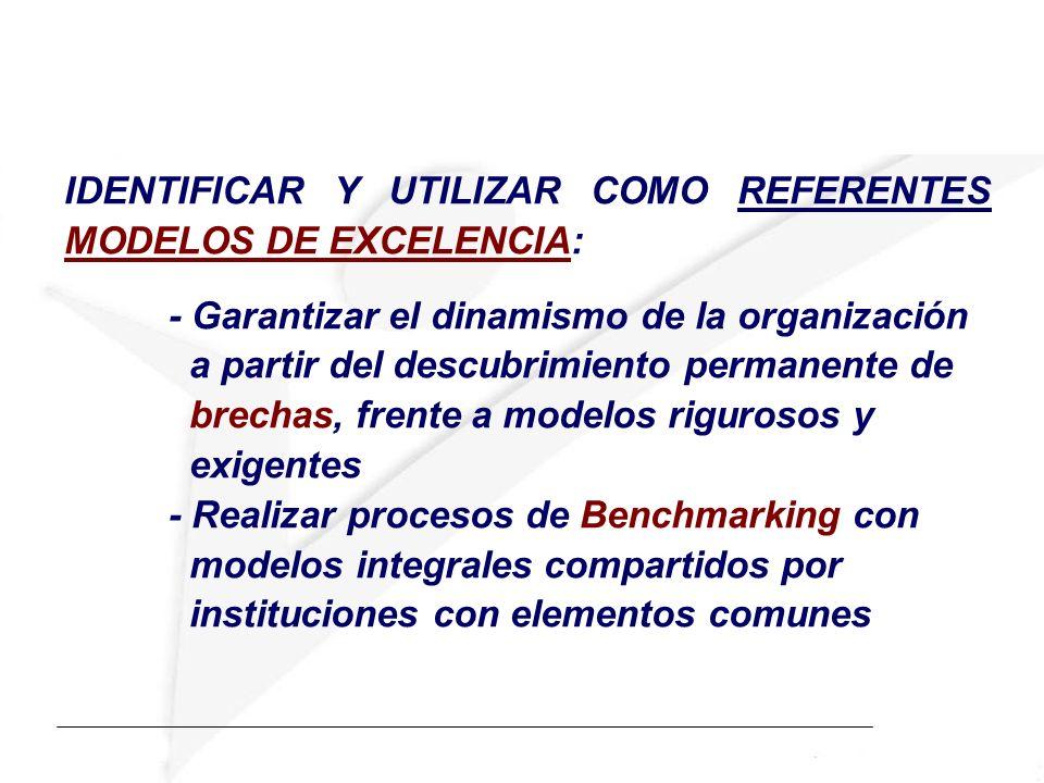 IDENTIFICAR Y UTILIZAR COMO REFERENTES MODELOS DE EXCELENCIA: