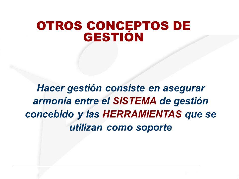 OTROS CONCEPTOS DE GESTIÓN