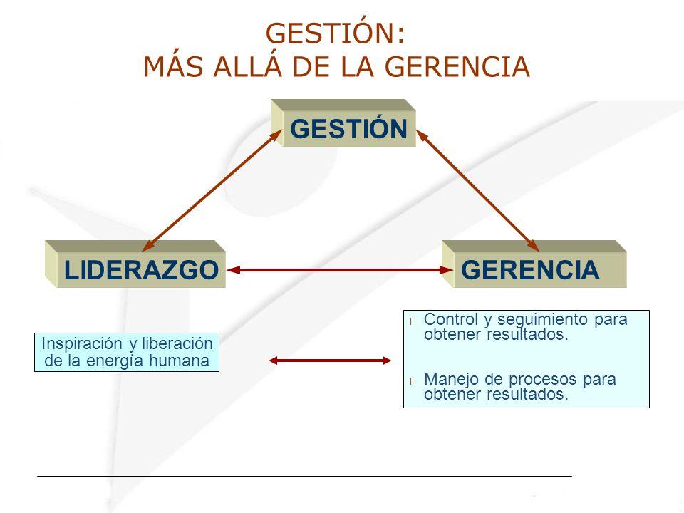 GESTIÓN: MÁS ALLÁ DE LA GERENCIA