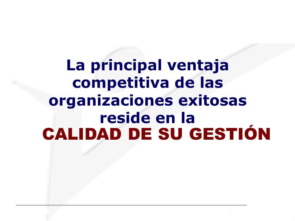 La principal ventaja competitiva de las organizaciones exitosas reside en la