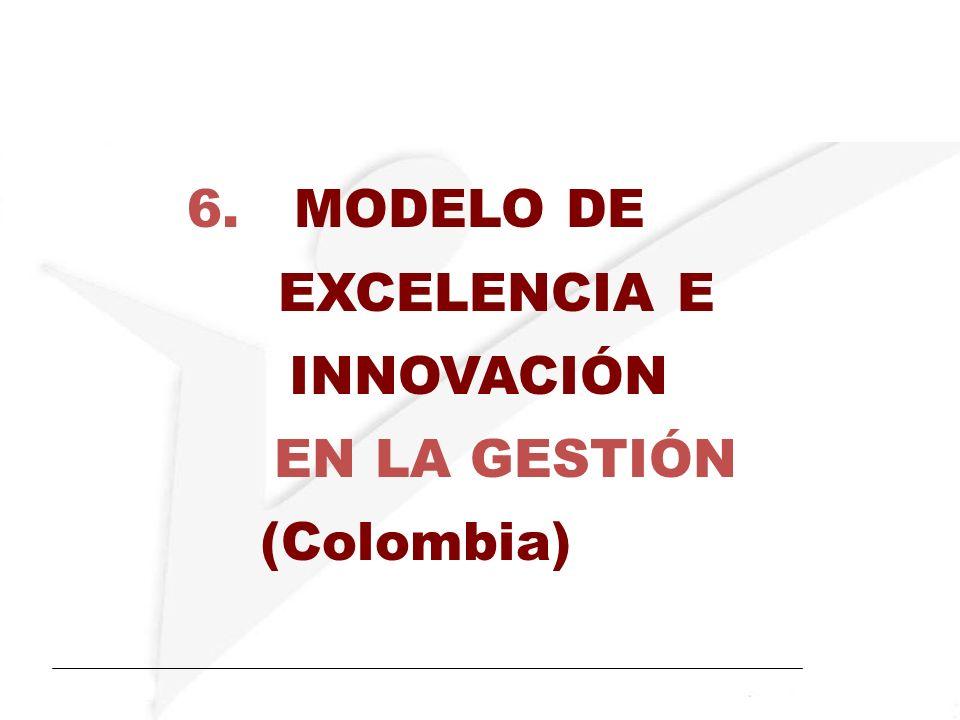 6. MODELO DE EXCELENCIA E INNOVACIÓN EN LA GESTIÓN (Colombia)
