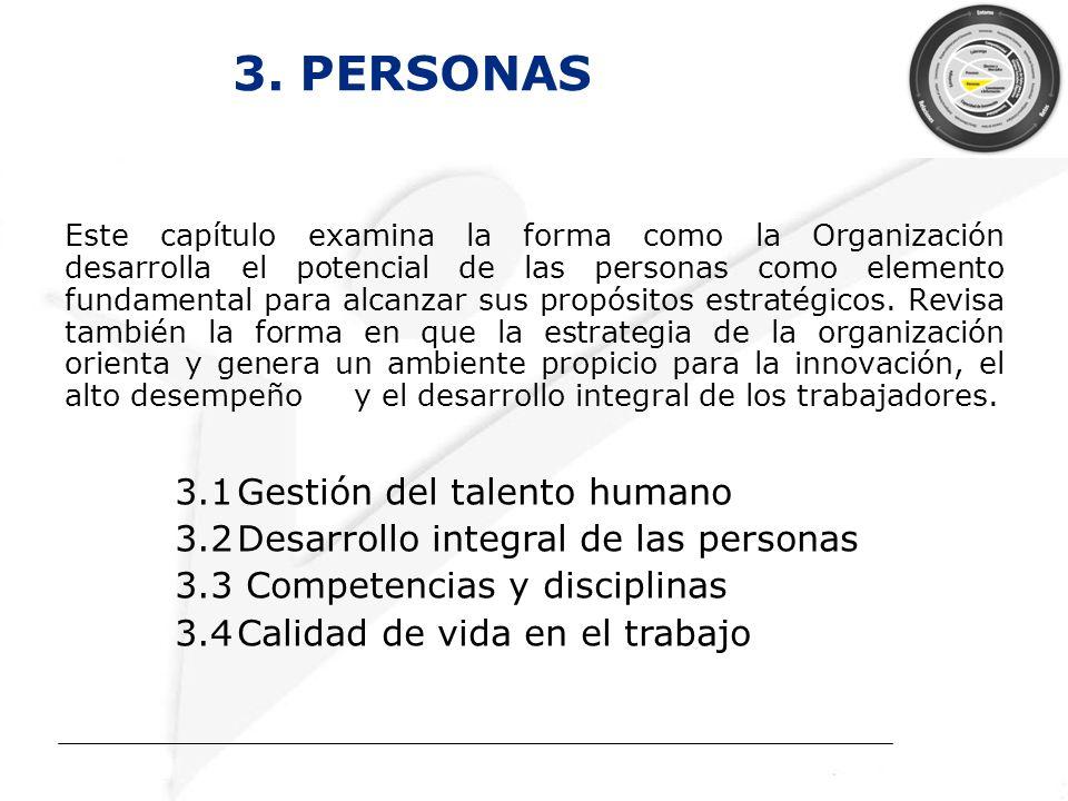 3. PERSONAS 3.1 Gestión del talento humano