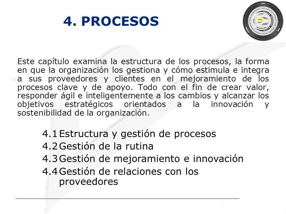 4. PROCESOS 4.1 Estructura y gestión de procesos