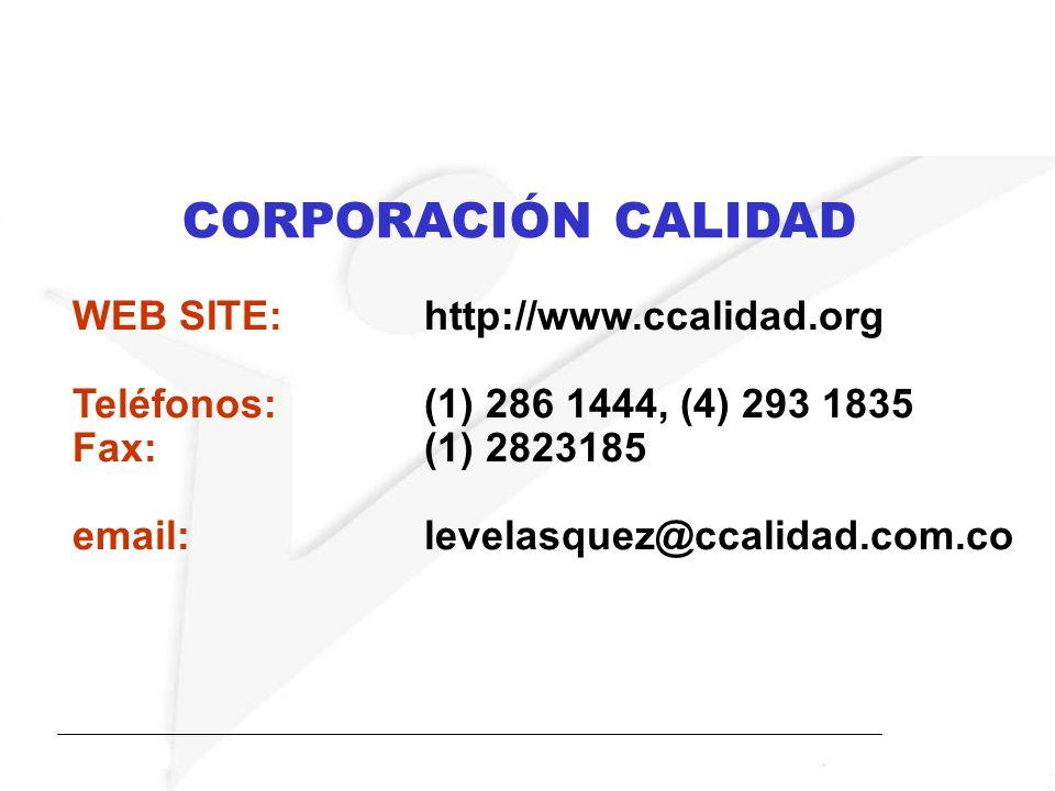 CORPORACIÓN CALIDAD WEB SITE: http://www.ccalidad.org