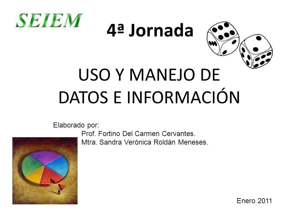USO Y MANEJO DE DATOS E INFORMACIÓN