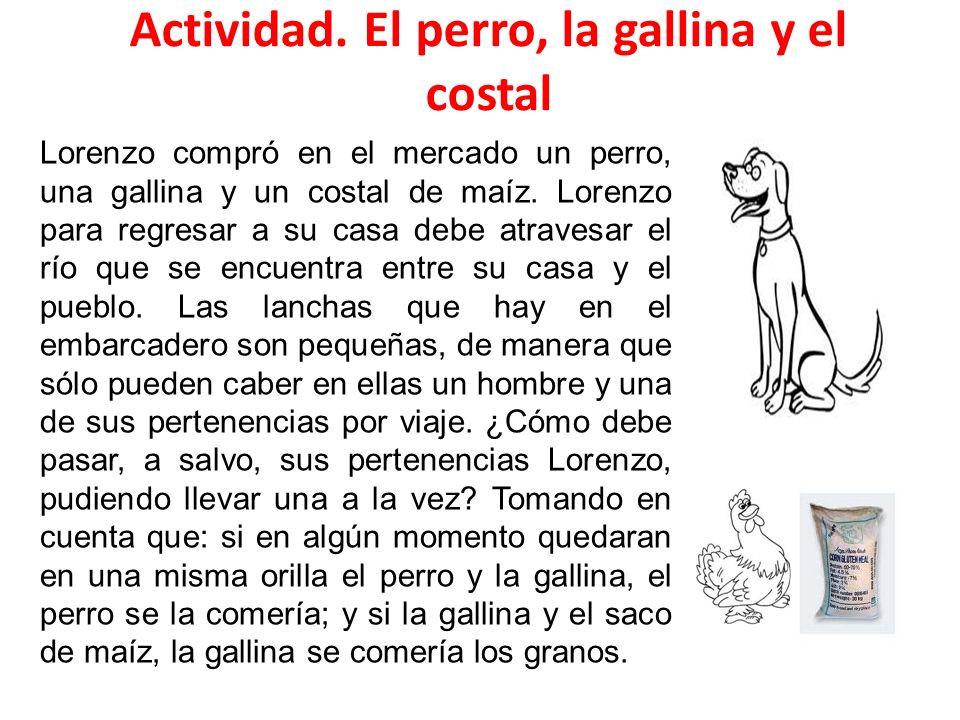 Actividad. El perro, la gallina y el costal