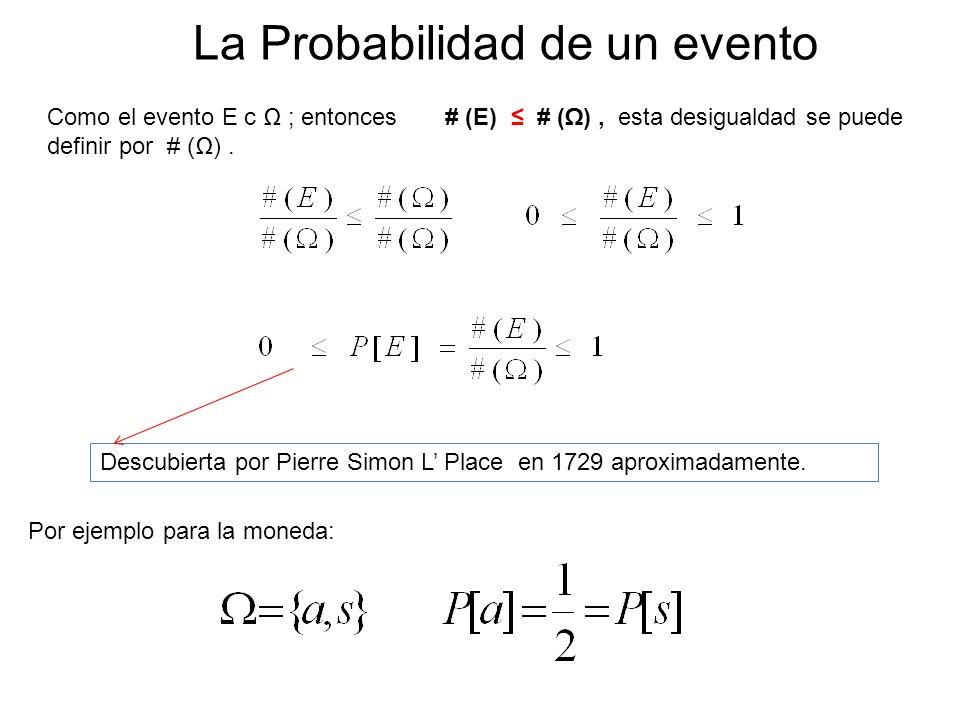 La Probabilidad de un evento