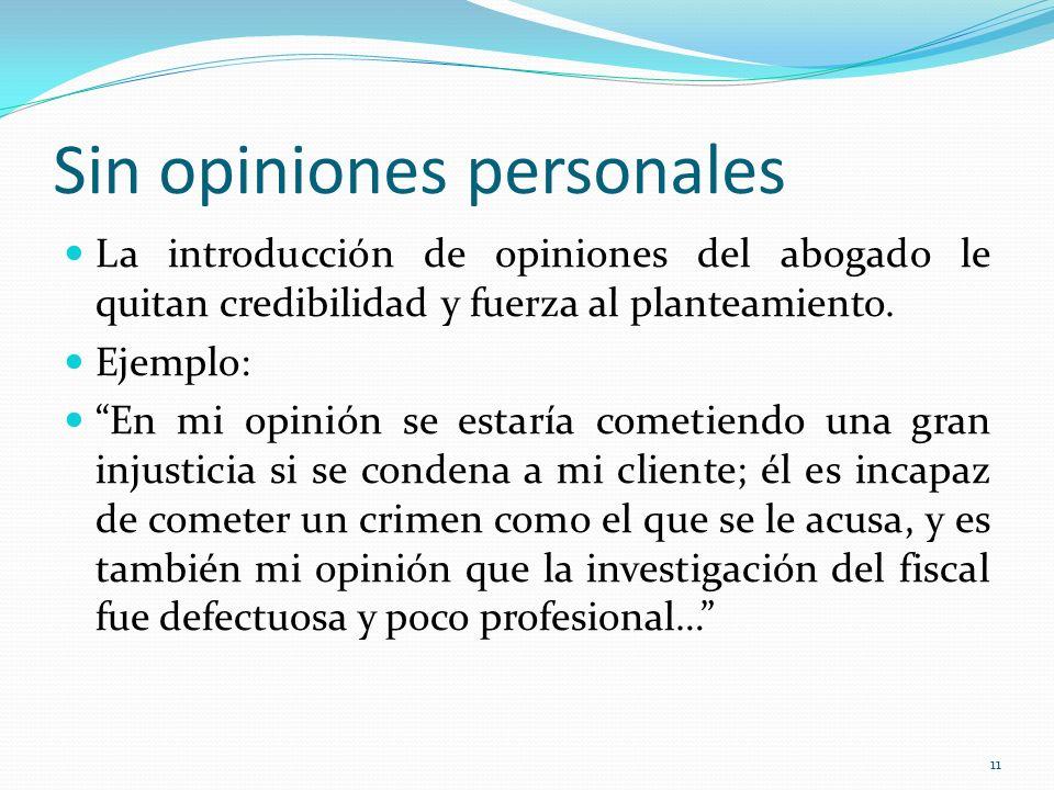 Sin opiniones personales