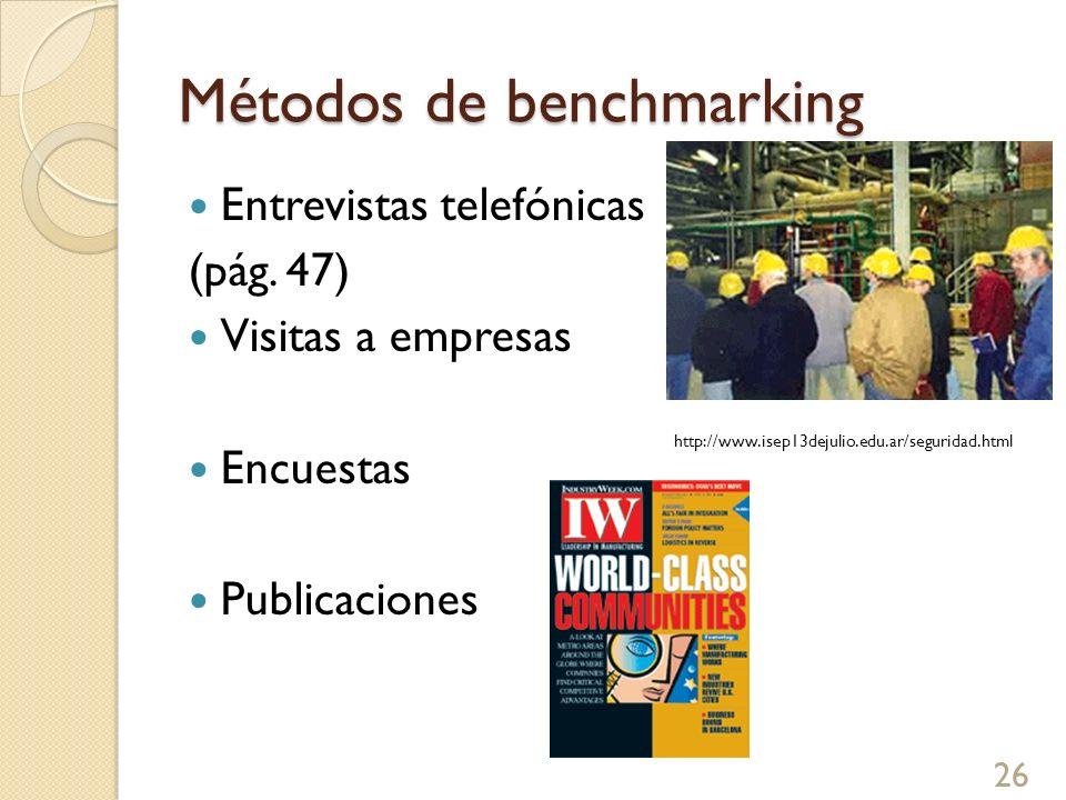 Métodos de benchmarking