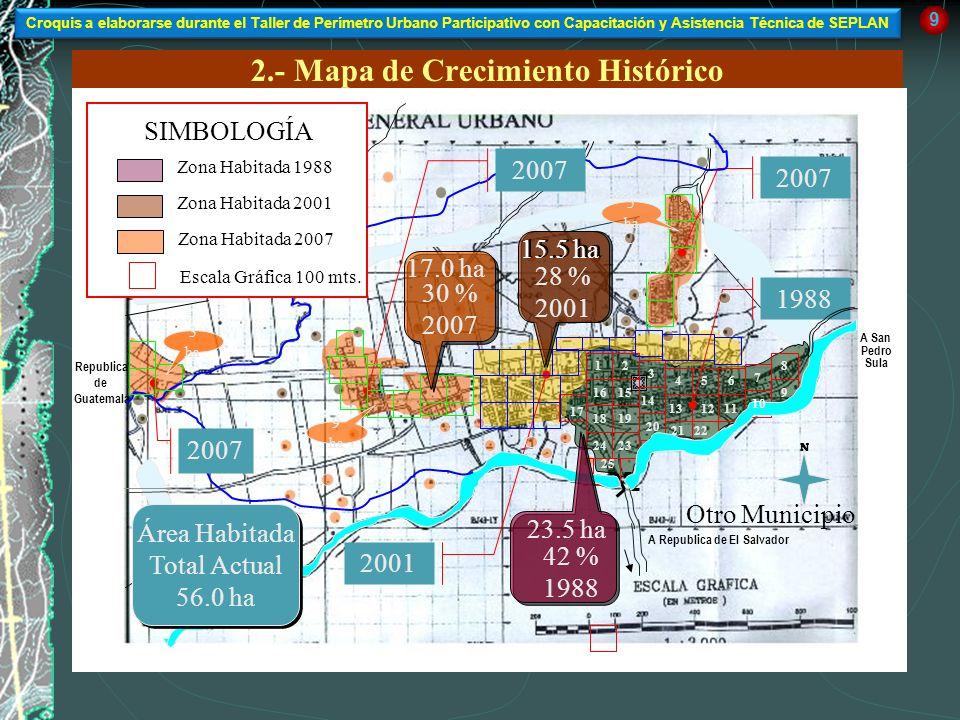 2.- Mapa de Crecimiento Histórico