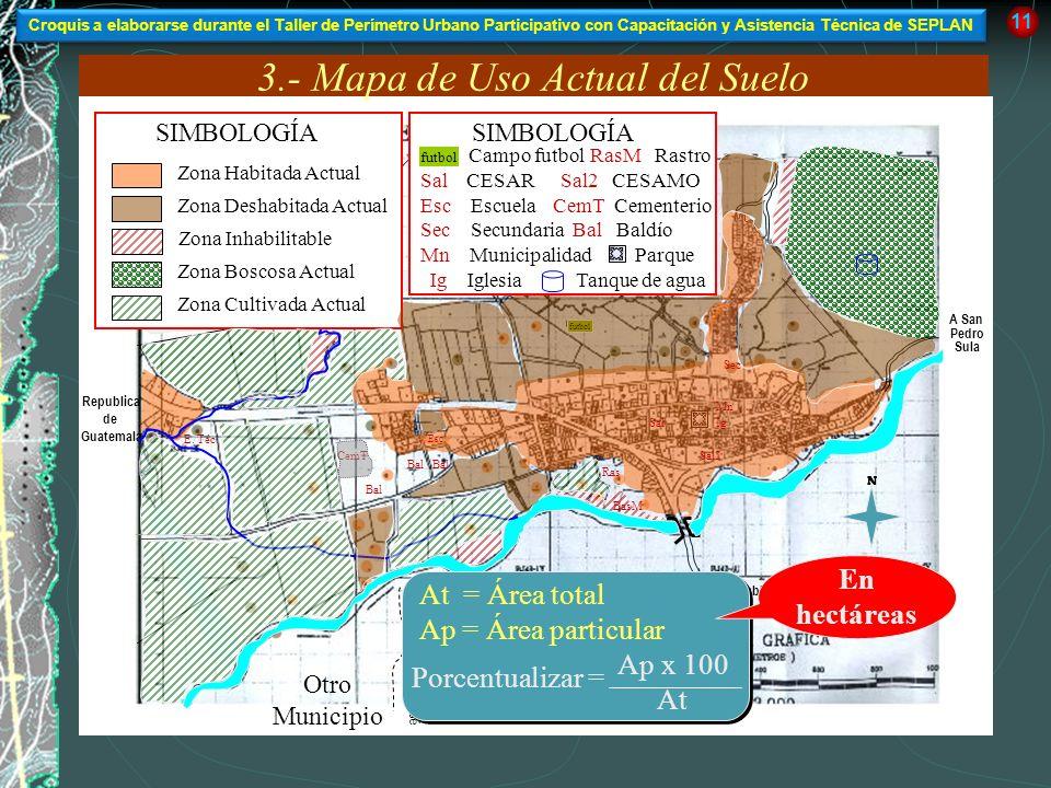 3.- Mapa de Uso Actual del Suelo