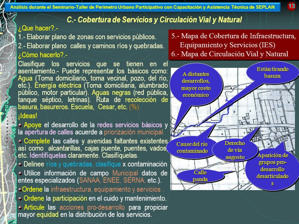 C.- Cobertura de Servicios y Circulación Vial y Natural