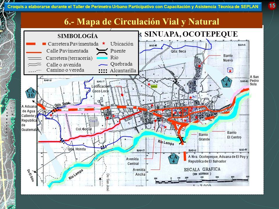 6.- Mapa de Circulación Vial y Natural