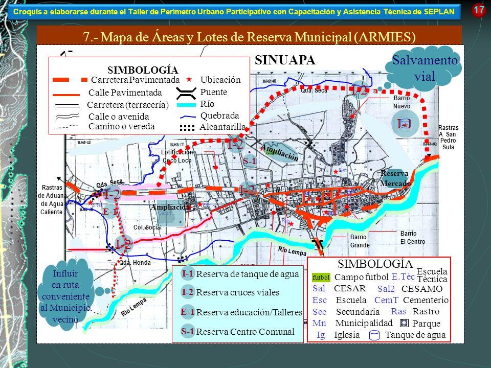 7.- Mapa de Áreas y Lotes de Reserva Municipal (ARMIES)