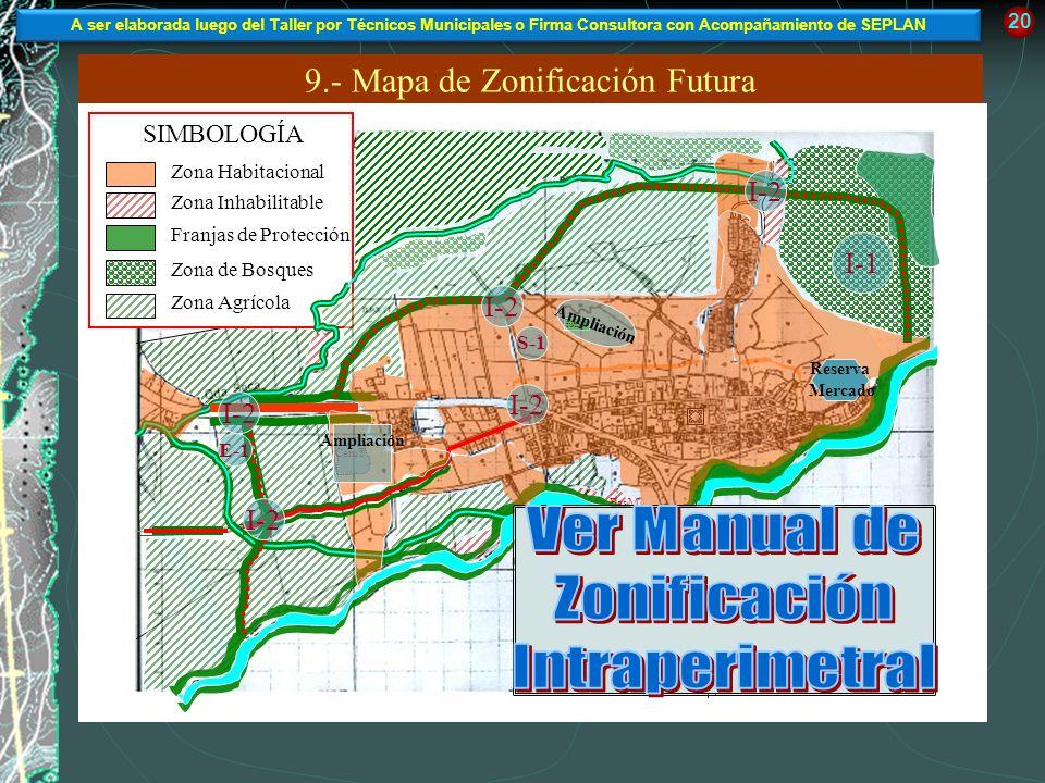 9.- Mapa de Zonificación Futura