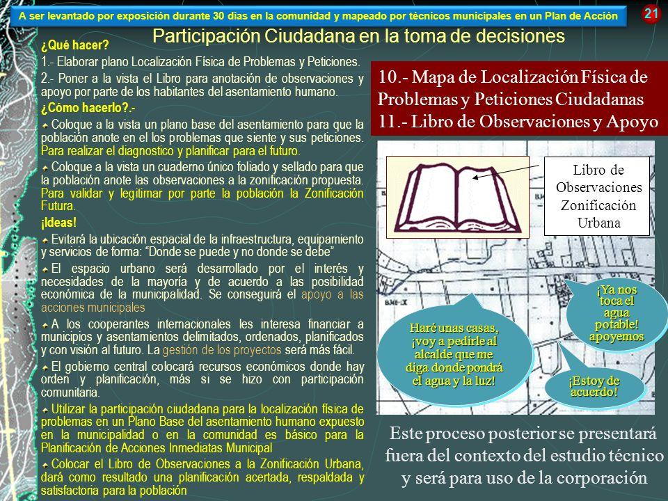 Participación Ciudadana en la toma de decisiones