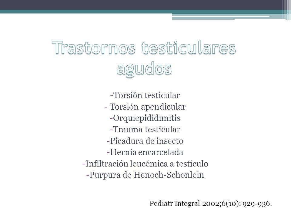 Trastornos testiculares agudos