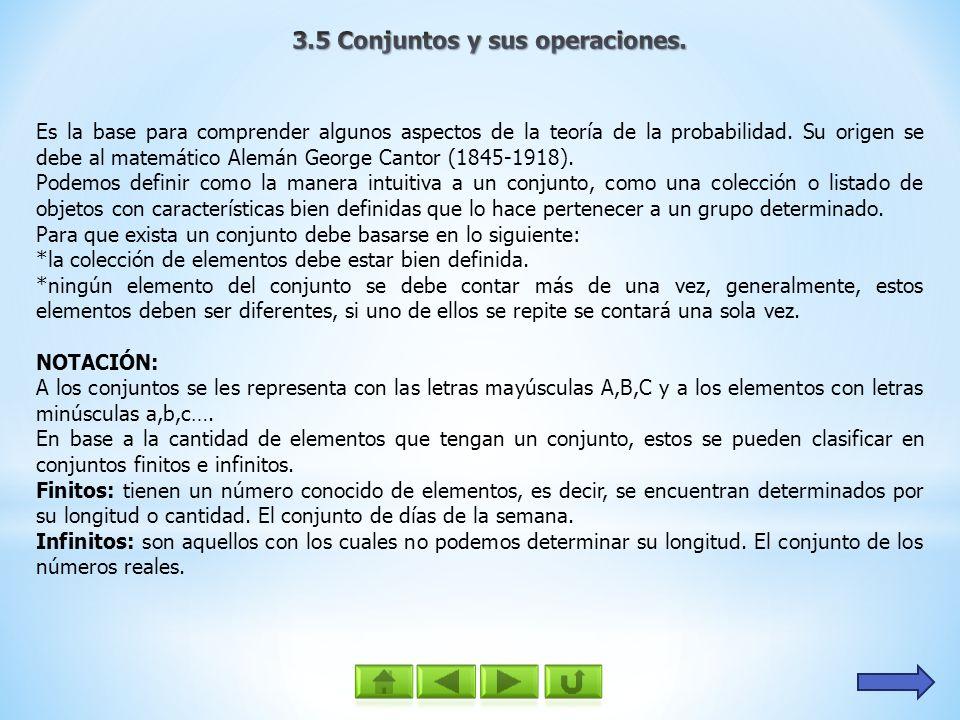 3.5 Conjuntos y sus operaciones.