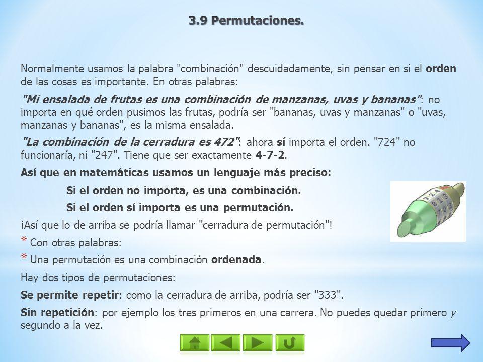 3.9 Permutaciones.
