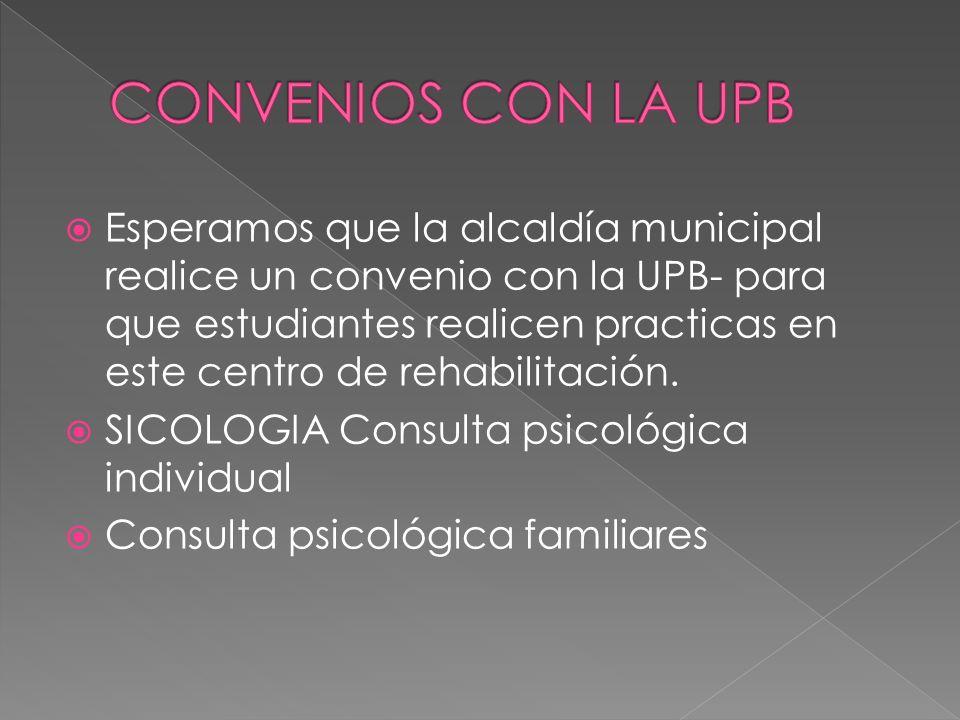 CONVENIOS CON LA UPB