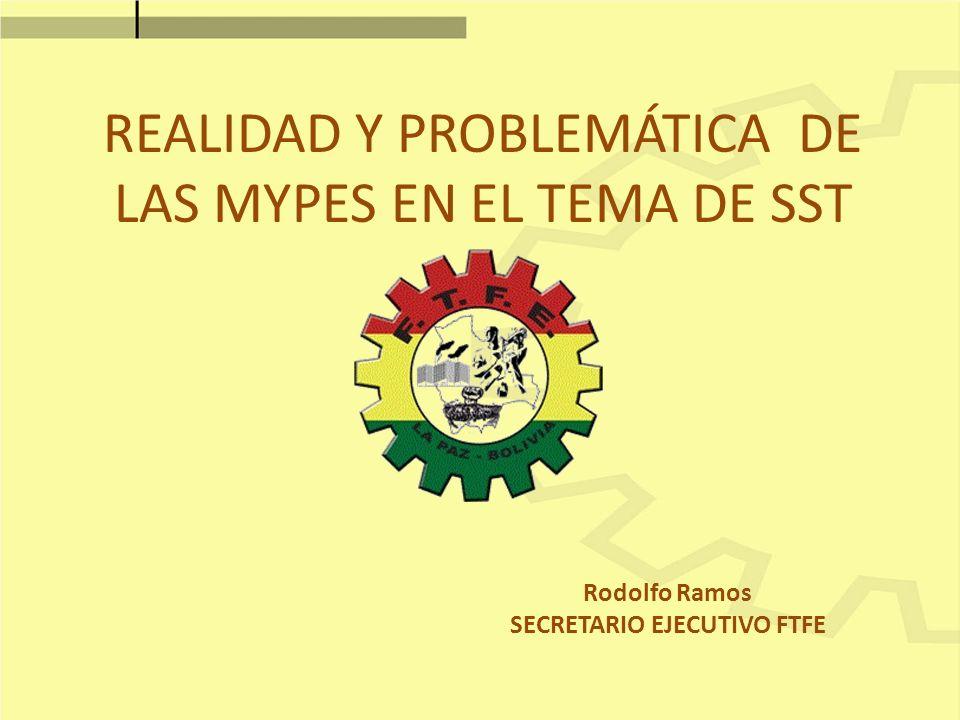 REALIDAD Y PROBLEMÁTICA DE LAS MYPES EN EL TEMA DE SST