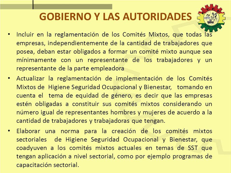 GOBIERNO Y LAS AUTORIDADES